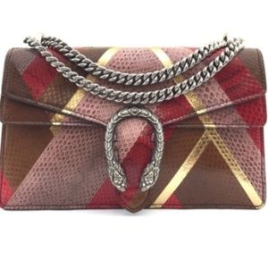 Gucci Bags - Dionysus Multicolor Python Leather Cross Body Bag